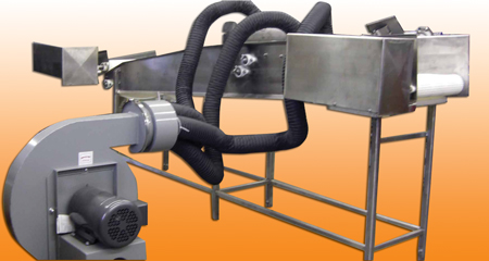 Continuous Feed Air Knife Drying Conveyor